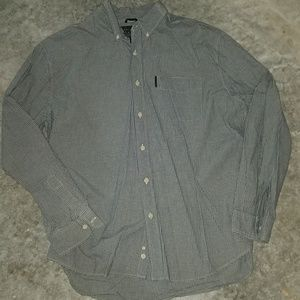 Abercrombie and Fitch blue plaid shirt xl